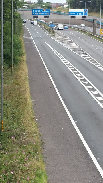 A666 northbound exit onto Kearsley roundabout