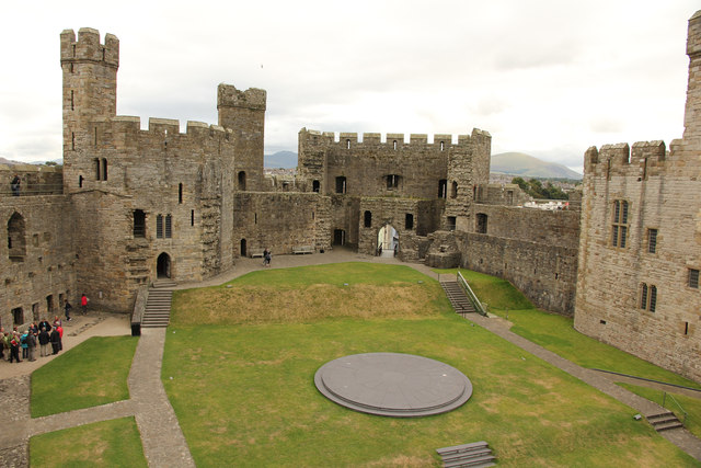Caernarfon Castle, upper ward