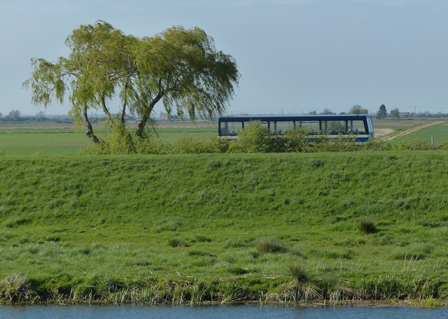 Bus travelling along the A151 Bourne Road