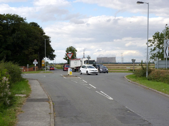 A57 crossroads at Laneham Road