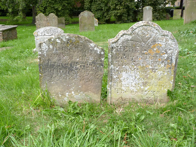 Gravestones, Church of St Oswald, Dunham on Trent