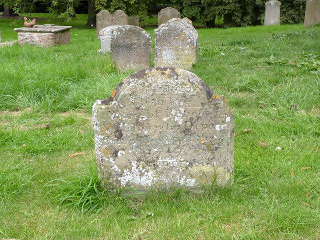 Gravestone, Church of St Oswald, Dunham on Trent