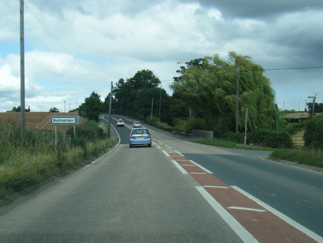 A49 northbound at Redhill Bridge