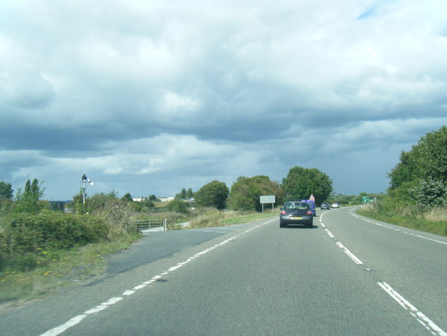 A49 curves away from the parallel railway line