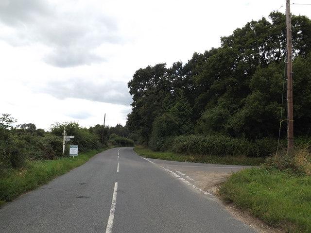 B1068 near Higham