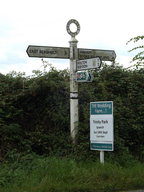 Roadsign on the B1068