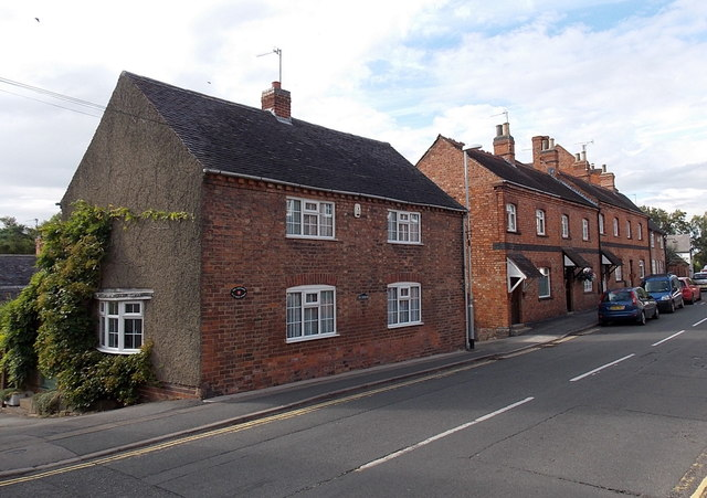 Main Street houses in Market Bosworth