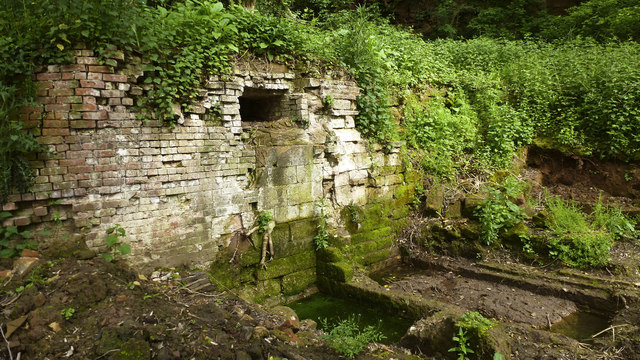 Head's Mill Wheelpit -- between Eastgrove Farm and Shrawley Brook
