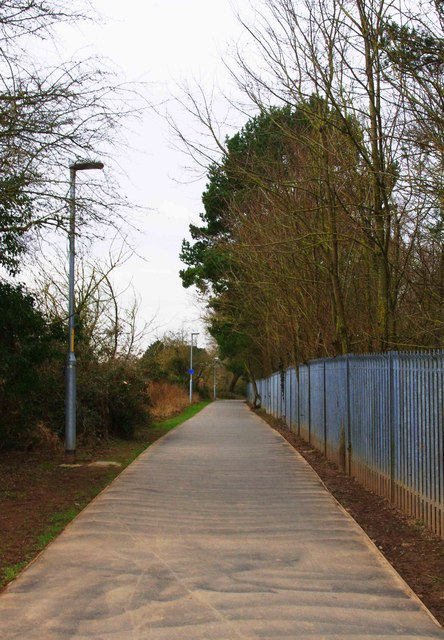 Footpath from the riverside to Bromwich Road, Worcester