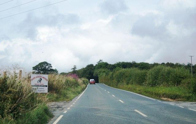 Entrance to Garlands Moor Moto Park