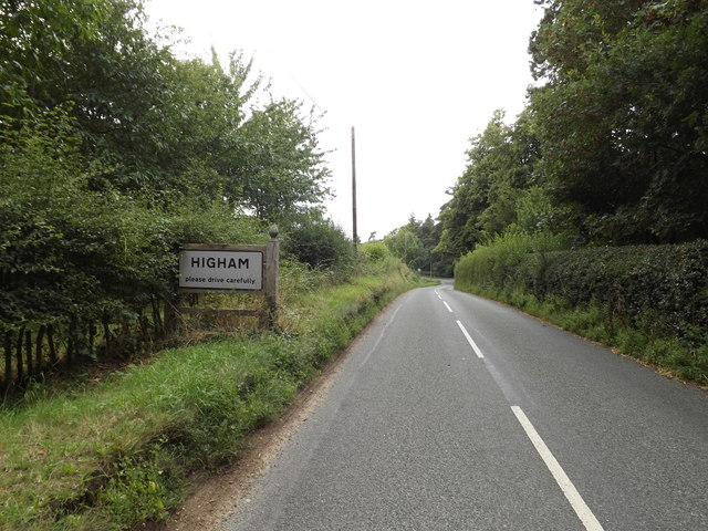 Entering Higham on the B1068