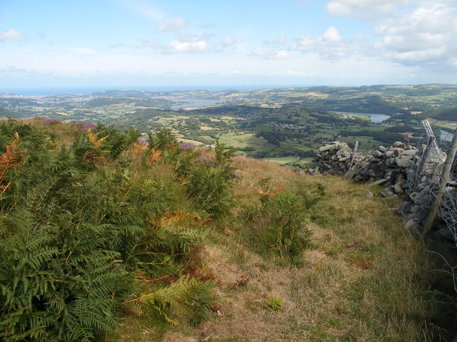 View from Pen-y-Gaer hill fort