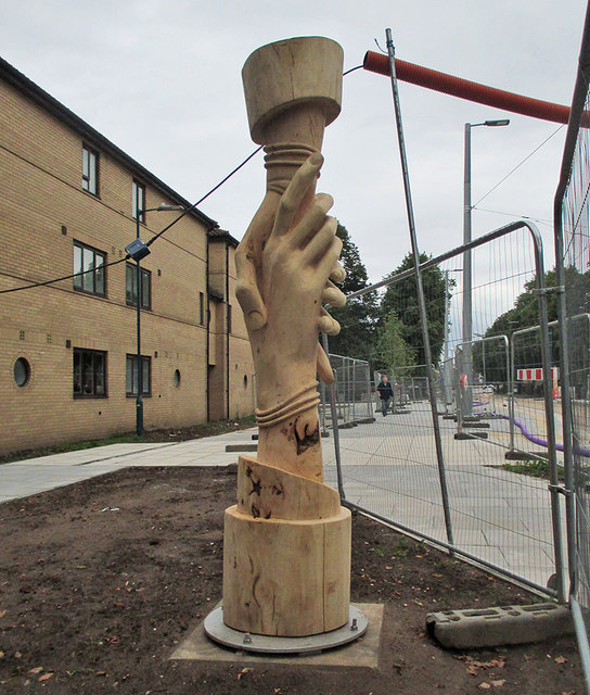 Meadows Centre tram stop: story pole 6 - Friendship