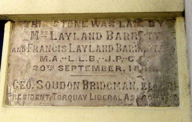 Plaque, Bolton Street, Brixham