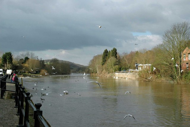 The River Severn at Bewdley, Worcs