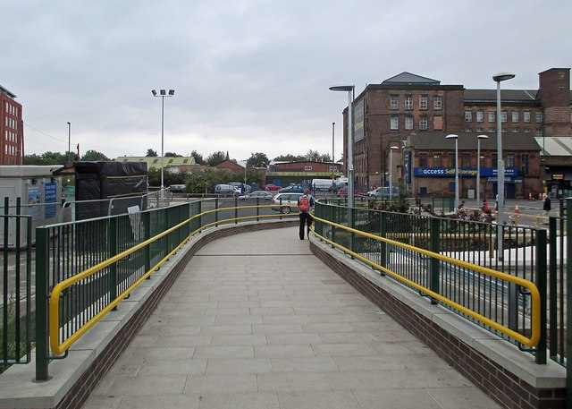 Nottingham Midland: new path to Queen's Road