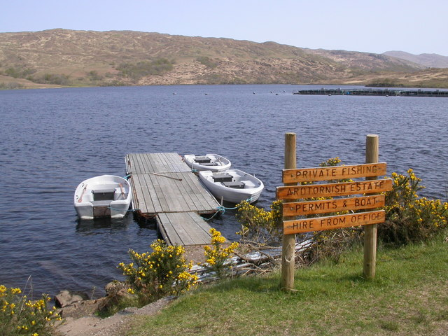 Loch Arienas and boats