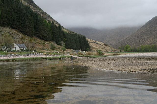 Glengalmadale River estuary , Camasnacroise