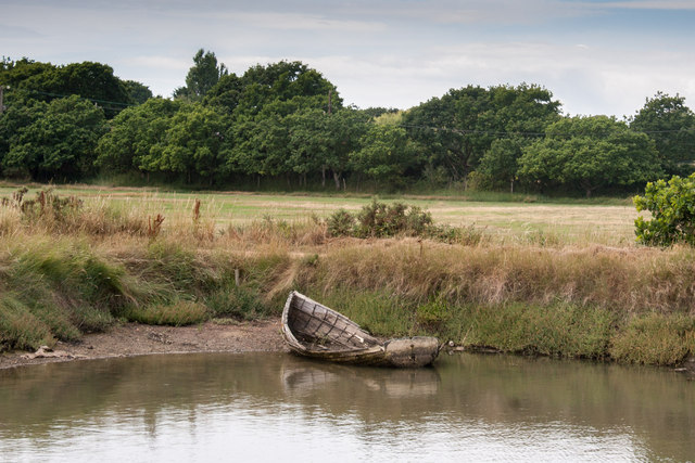 Derelict Boat on Eight Acre Pond
