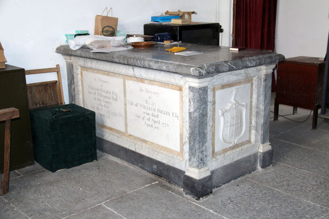 St Mary, Hillington - Tomb chest