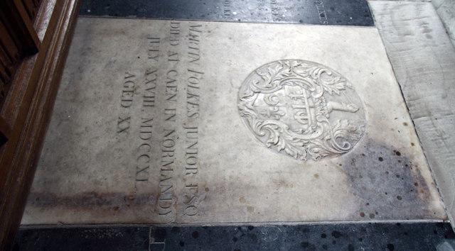 St Mary, Hillington - Ledger slab