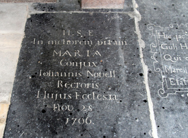 St Mary, Hillington - Ledger slab