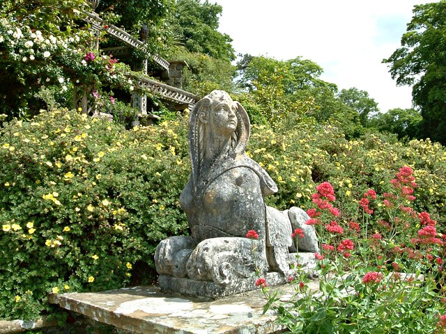 The Sphinx Statue on Canal Terrace Bodnant Garden (1)