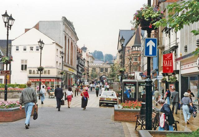 Lincoln: High Street 1992, before pedestrianisation