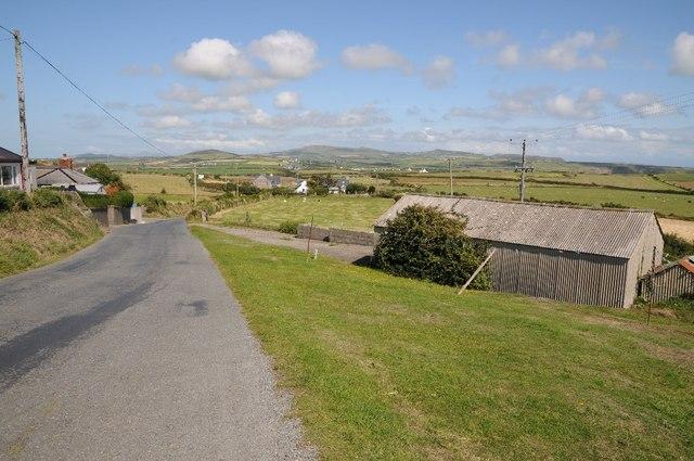 Country road near Uwchmynydd
