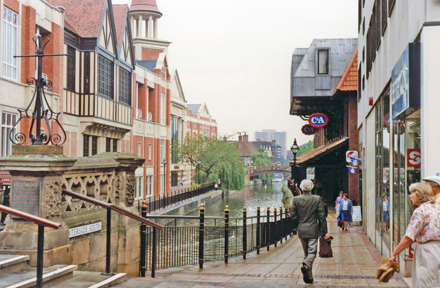 Lincoln: River Witham running through the city, 1992