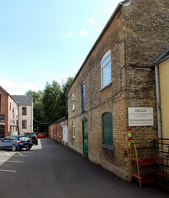 Access road to Stainsbridge Mill facilities, Malmesbury