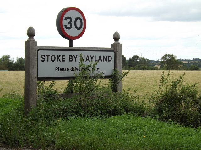 Stoke By Nayland Village Name sign