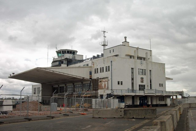 The old Elmdon Airport Terminal awaiting a facelift