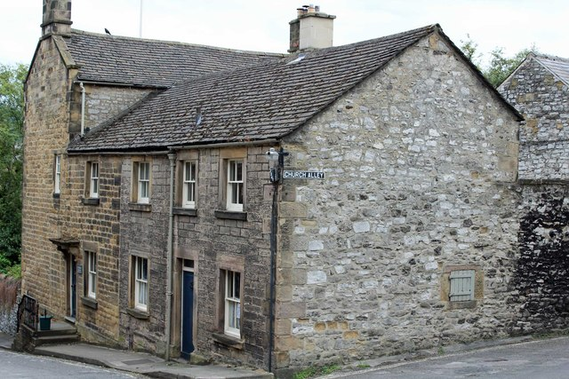 Buildings on the corner of Church Alley Bakewell