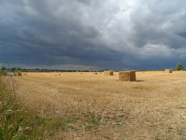 Stubble and straw bales