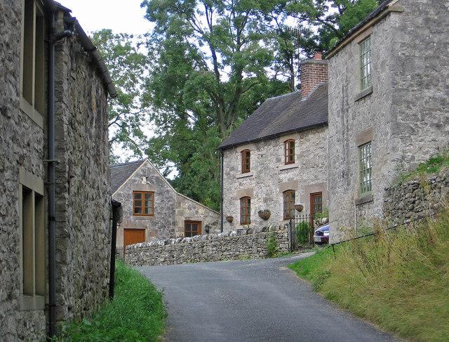 Parwich - houses on Dam Lane