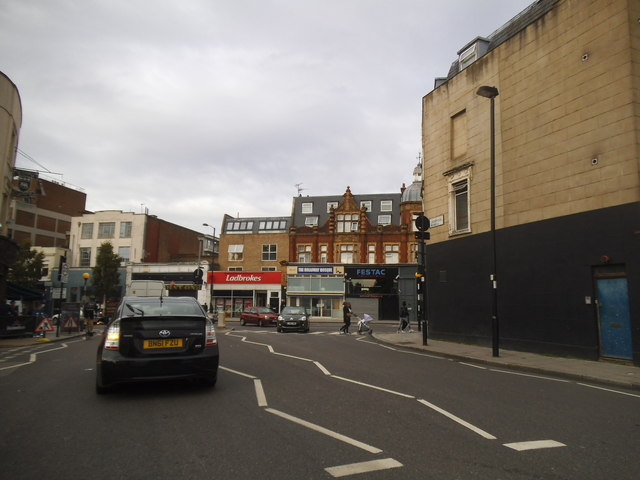Liverpool Road at the junction of Holloway Road