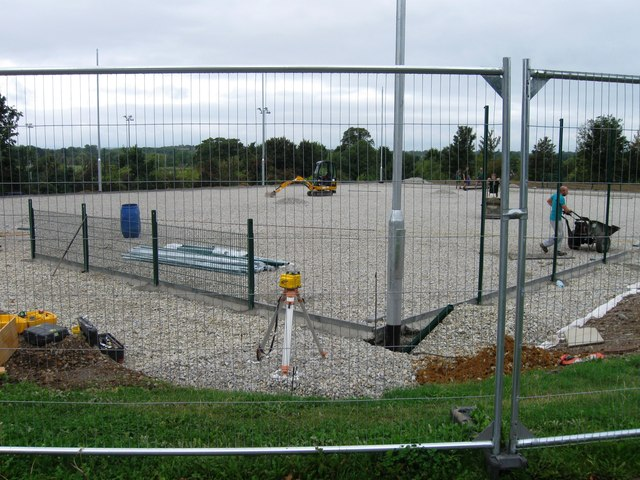 Construction of new sports court
