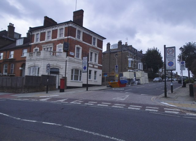 Brecknock Road at the junction of Lady Margaret Road