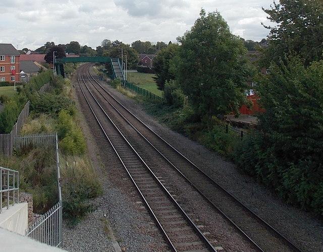 Railway footbridge, Melton Mowbray