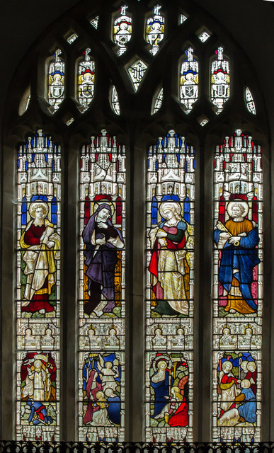 East Window, St Olaf's church, Poughill