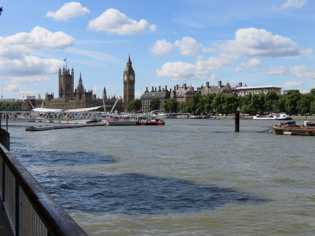 View across the Thames from the South Bank