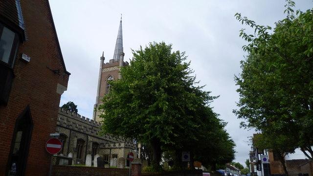 Part of the High Street in Bishop's Stortford