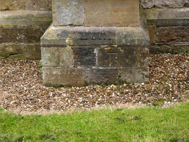 Bench mark, St Gregory's church, Fledborough