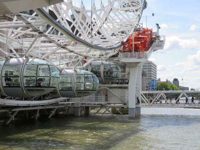 Outside the London Eye