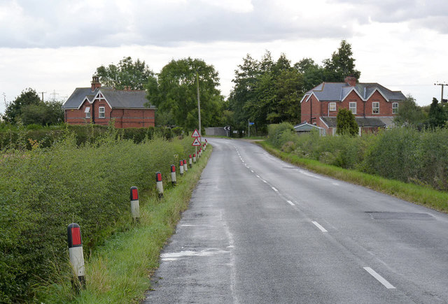 The approach to Fledborough Station