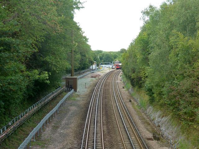 Railway east of Chorleywood station