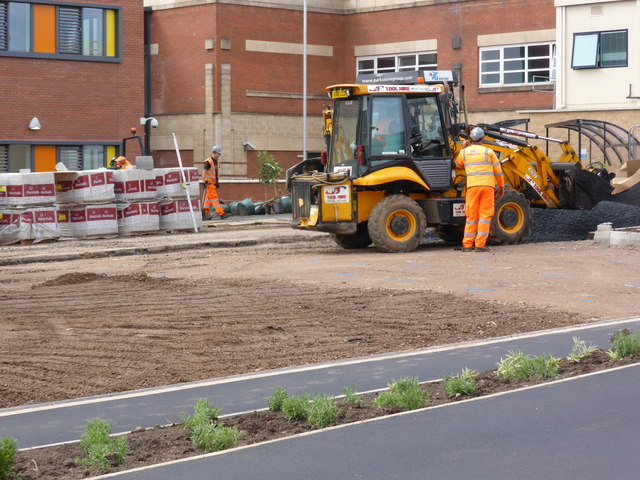 Worcestershire Royal Hospital. - laying the car park