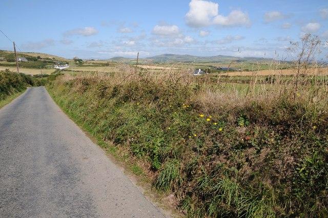 Country road at Uwchmynydd