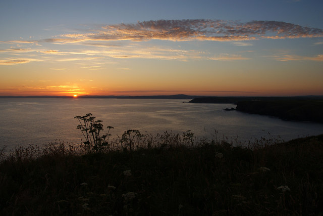 Polurrian Cliff at sunset